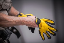 Wearing Safety Gloves