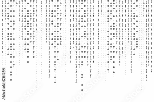Stampa su Tela Abstract binary code background
