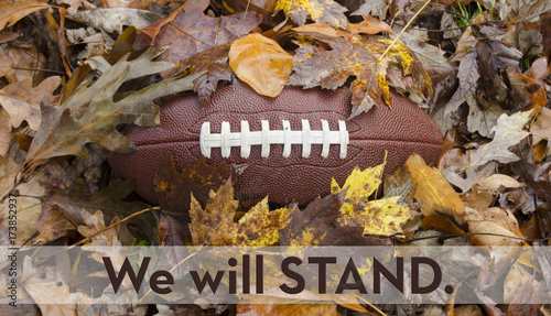 Fotografie, Tablou  We will STAND for the National Anthem at Football Games
