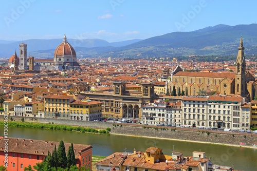 Wall Murals Florence Beautiful view of Florence from Piazzale Michelangelo, Florence, Italy.