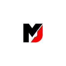 M And J Letter Logo Vector