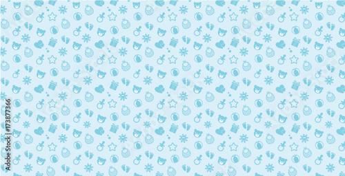 Fotografie, Obraz Blue baby boy pattern Simple & Sweet Background vol.12