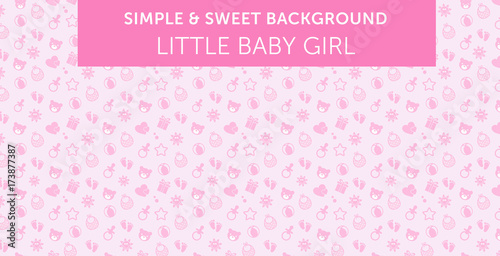 Fotografie, Obraz  Pink baby girl pattern Simple & Sweet Background vol.13