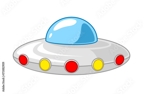 Photo  Cartoon UFO