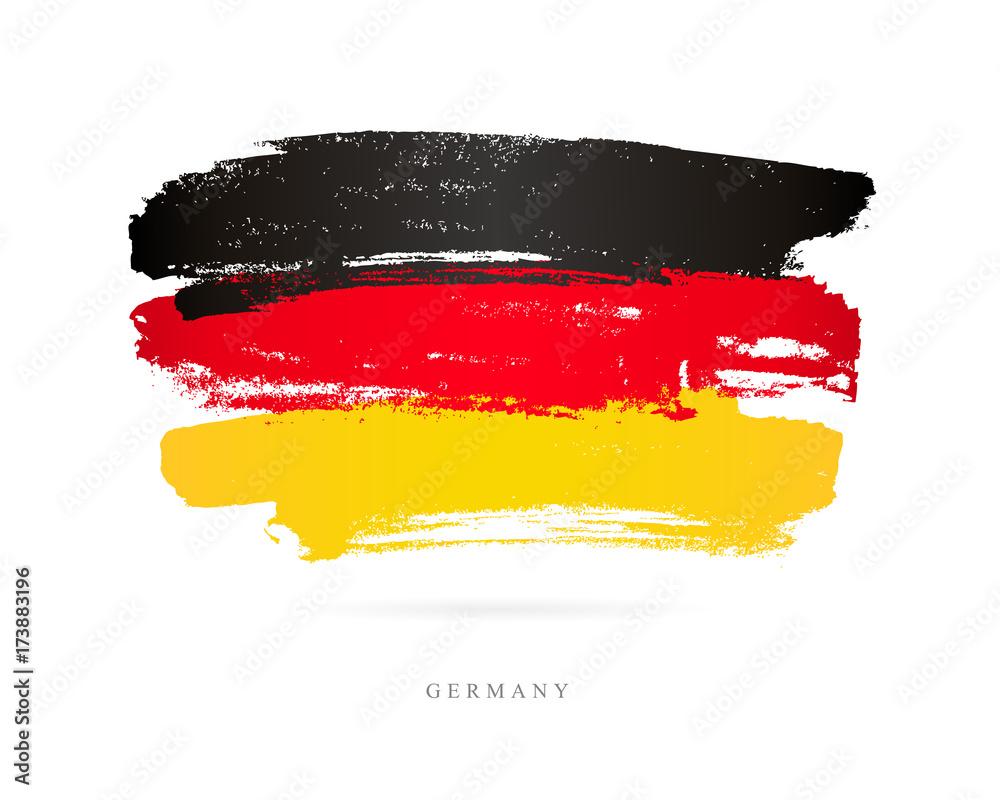 Fototapeta Flag of Germany. Brush strokes