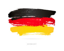 Flag Of Germany. Brush Strokes