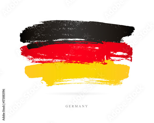 Flag of Germany. Brush strokes Canvas Print