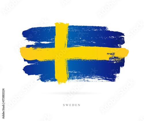 Fotografía  Flag of Sweden. Abstract concept