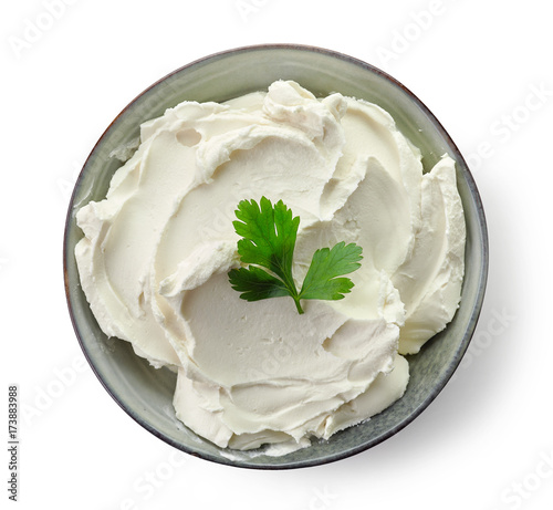 Fototapeta  Bowl of cream cheese