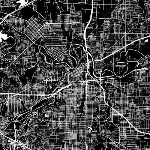 Fort Worth, Texas. Downtown vector map. - Buy this stock ...