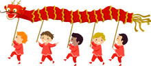 Stickman Kids Dragon Dance Boy...