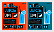 Juice Up! (Flat Style Vector Illustration Health Diet Poster Design)