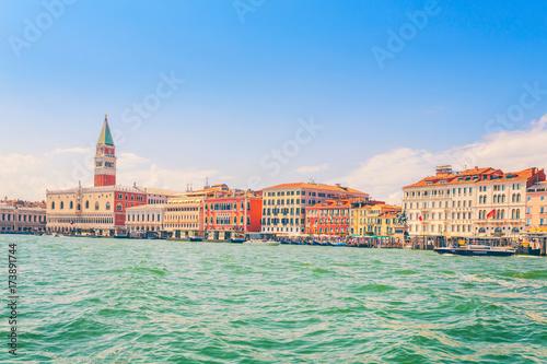 Plakat Wenecja, Włochy, widok na centralnej ulicy od strony wody