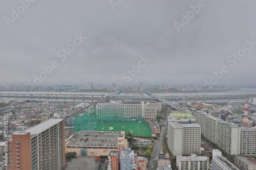 Plakat Widok Tokio przy Funabashi