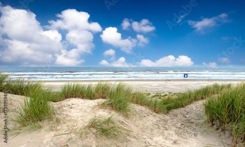 Tuinposter Noordzee Nordsee, Strand auf Langenoog: Dünen, Meer, Entspannung, Ruhe, Erholung :)