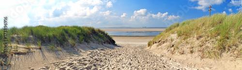 Foto op Plexiglas Noordzee Nordsee, Strand auf Langenoog: Dünen, Meer, Entspannung, Ruhe, Erholung :)