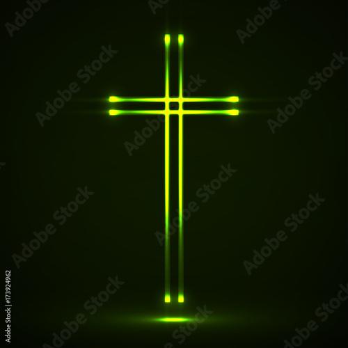 Fotografia, Obraz Glowing christian cross