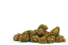 Marijuana Buds Isolated On A W...