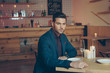 stylish man in restaurant