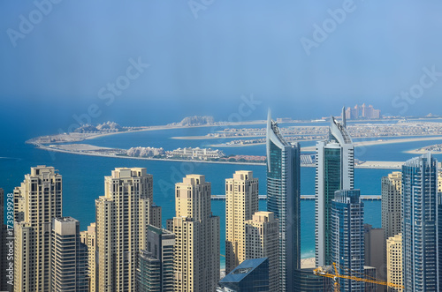 Obraz na dibondzie (fotoboard) Wieżowce Tall Dubai Marina w Zjednoczonych Emiratach Arabskich