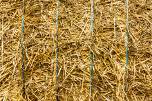 Close-up View Of A Bale Of Str...