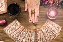 Fortune Teller Female Hands An...