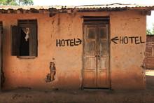 Rustic Hotel Building