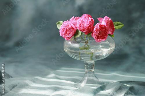 English Roses Bouquet In A Vase Benjamin Britten Rose English