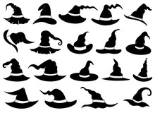 Set Of Different Witch Hats Is...