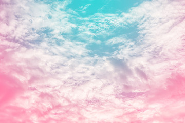 Panel Szklany Niebo sun and cloud background with a pastel colored