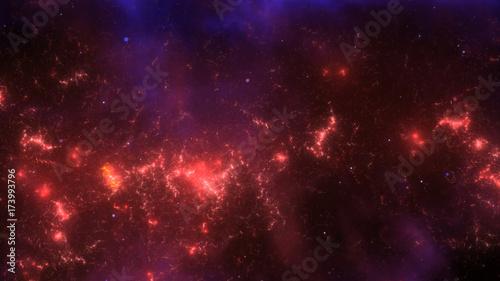Obraz na płótnie Abstrakcjonistyczna fractal ogienia przestrzeni mgławica