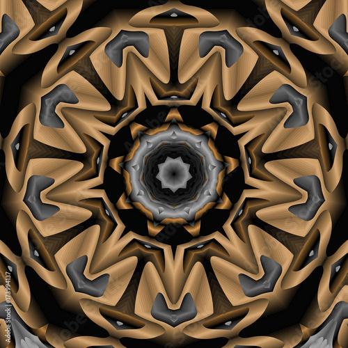 Fototapeta abstrakcyjny wzór mandali w dziewięciu narożnikach