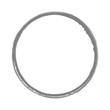 Handgemalter Kreis aus Tusche grau