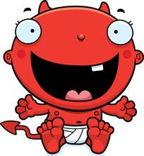 Cartoon Baby Devil Happy