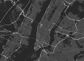 Panel Szklany Vector black map of New york