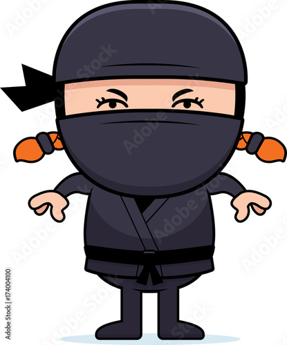 Photo  Angry Cartoon Little Ninja