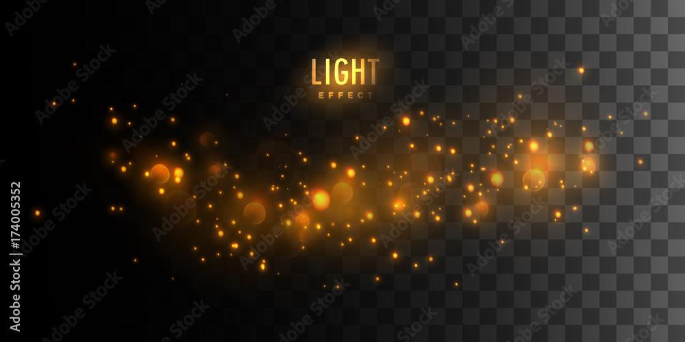 Fototapety, obrazy: Luminous fire stars.