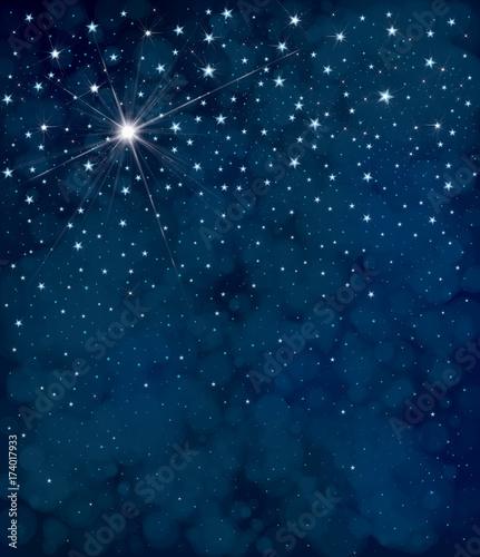 Zdjęcie XXL Wektorowy gwiaździsty nocnego nieba tło.