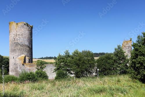 Poster Rudnes Castle Ruins Baldenau Morbach