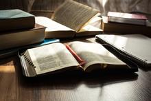 Morning Bible Reading On Woode...
