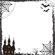 Halloween Square Frame For Tex...