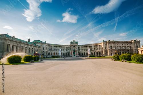 Famous Hofburg Palace at Heldenplatz in Vienna, Austria