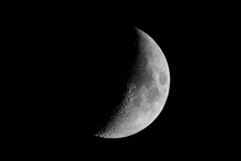 Moon,  Waxing Crescent Phase