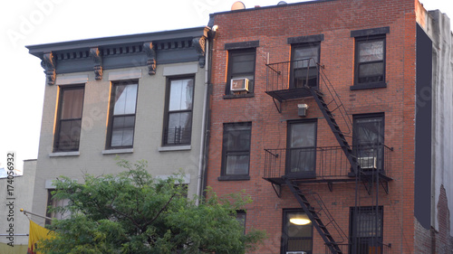 Typical Brooklyn New York City Style Apartment Building Exterior