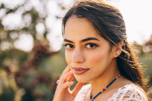 Close-up Portrait Of A Beautiful Latina Woman