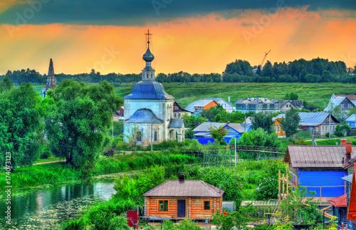 Papiers peints Bleu vert Churche of the Epiphany in Suzdal, Russia