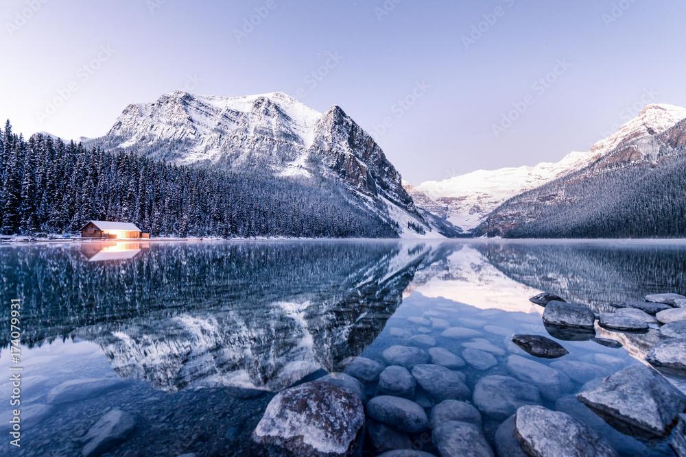 Fototapeta Winter Reflection at Lake Louise