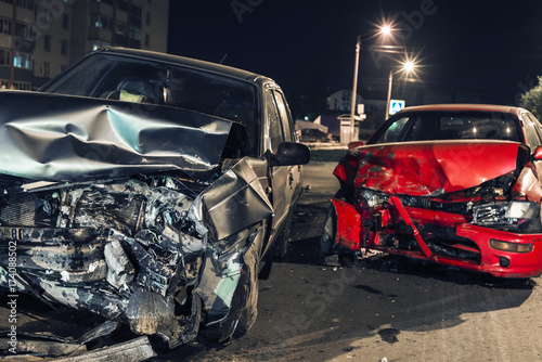 Photo Night car accident
