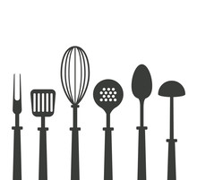 Kitchen Utensils Icons Icon Ve...