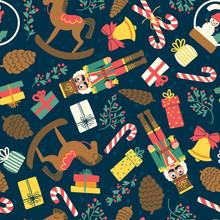 Christmas Toys Pattern